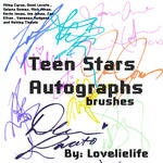 Teen stars signatures Brush