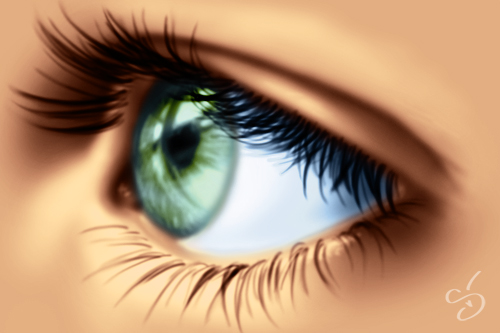 How to draw a realistic eye by StephanieVALENTIN