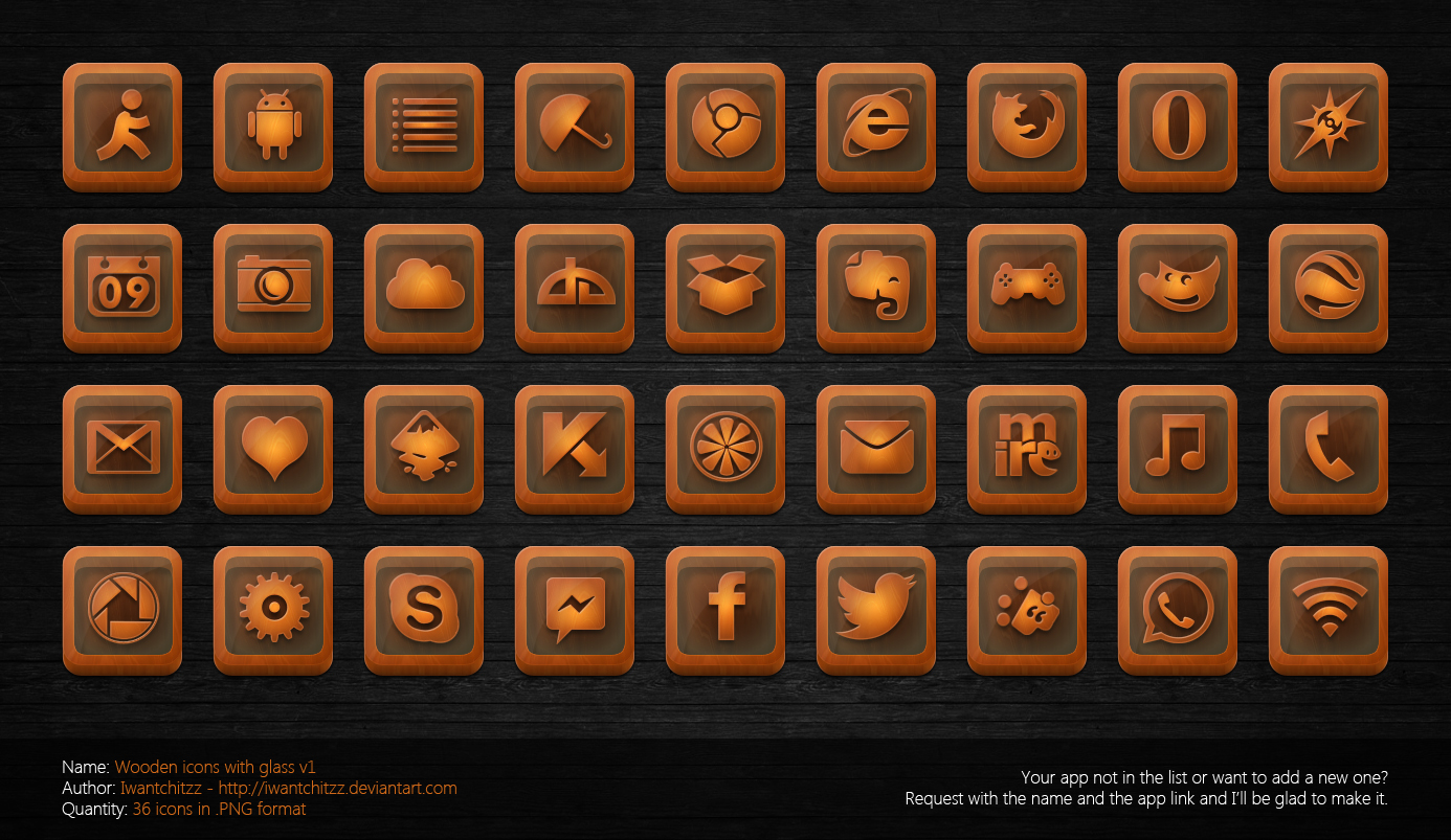 Wooden Icons with Glass v1
