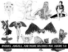 Faerie Angels and Misc Brushes by newdoll-stock