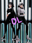 .:MMD:. Black and White Sisters DL by Dilyano