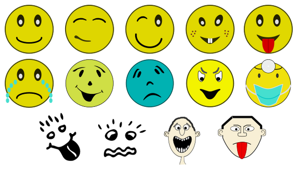 Smilies (Inkscape symbols library)