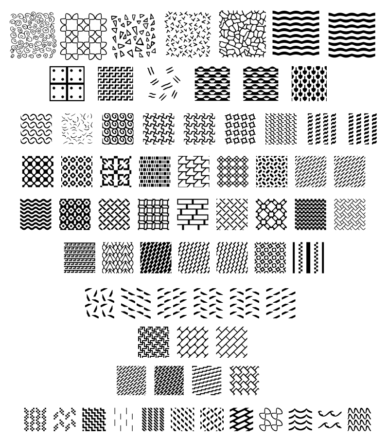 Various Fill Patterns