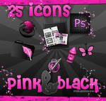 icons pink black .PNG and .ICO
