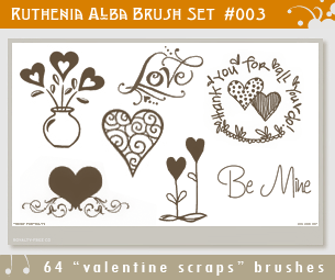 Brushset 03: Valentine Scraps by Ruthenia-Alba