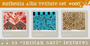 Texture Set 02: Indian Sari by Ruthenia-Alba