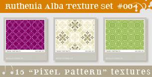 Texture Set 04: Pixel Pattern by Ruthenia-Alba
