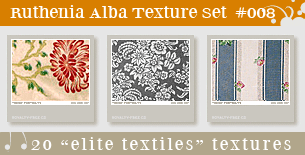 Texture Set 08: Elite Textiles by Ruthenia-Alba
