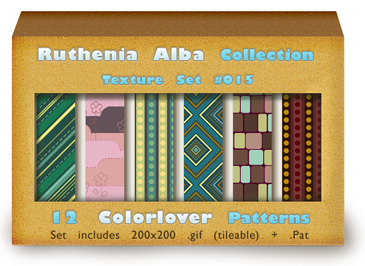 Texture Set 15: Color Patterns by Ruthenia-Alba