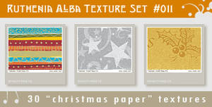 Texture Set 11: Xmas Paper 1 by Ruthenia-Alba