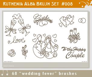 Brushset 08: Wedding Fever by Ruthenia-Alba