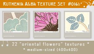 Txt Set 16b: Oriental Flowers by Ruthenia-Alba