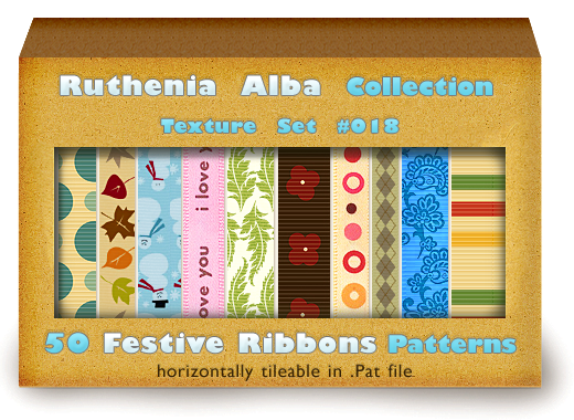Txt Set 18: Festive Ribbons by Ruthenia-Alba