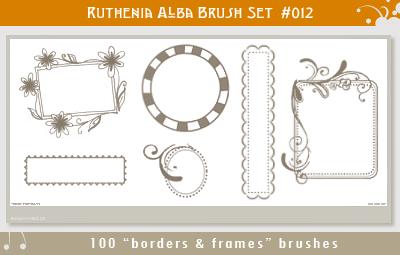 Brushset 12: Border'n'Frames by Ruthenia-Alba