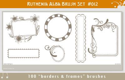 Brushset 12: Border'n'Frames