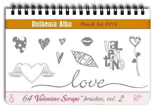 Brushset 15: ValentineScraps 2 by Ruthenia-Alba