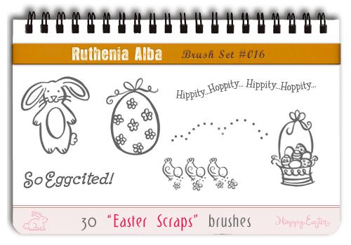 Brushset 16: Easter Scraps by Ruthenia-Alba