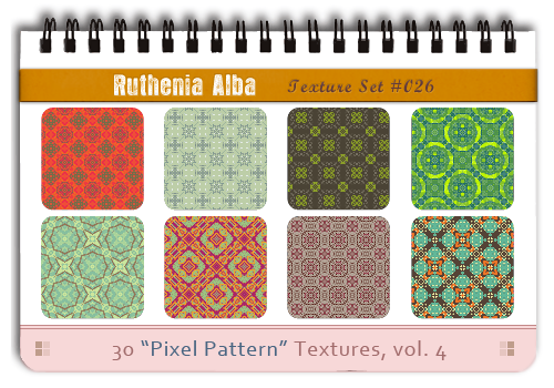 Txt Set 26: Pixel Pattern 4 by Ruthenia-Alba