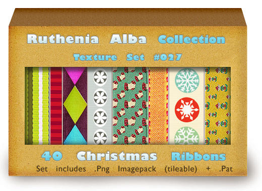 Txt Set 26: Christmas Ribbons by Ruthenia-Alba