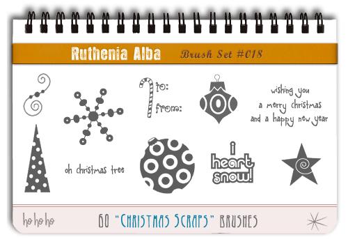 Brushset 18: Christmas Scraps by Ruthenia-Alba