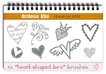 Brushset 20: Heart-shaped Box