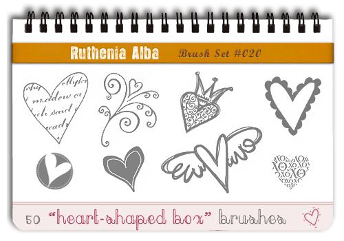 Brushset 20: Heart-shaped Box by Ruthenia-Alba