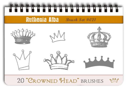 Brushset 21: Crowned Head by Ruthenia-Alba