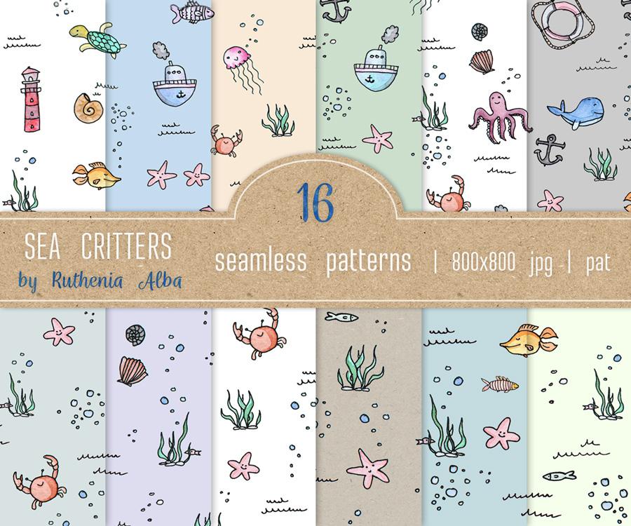 Texture Set #35: Marine Critters by Ruthenia-Alba