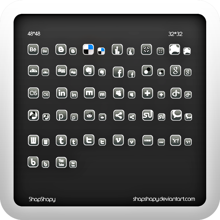 Social icons by shapshapy