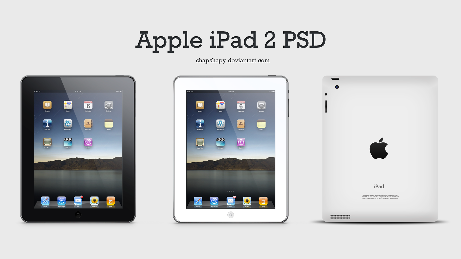 Apple iPad 2 PSD by shapshapy on DeviantArt