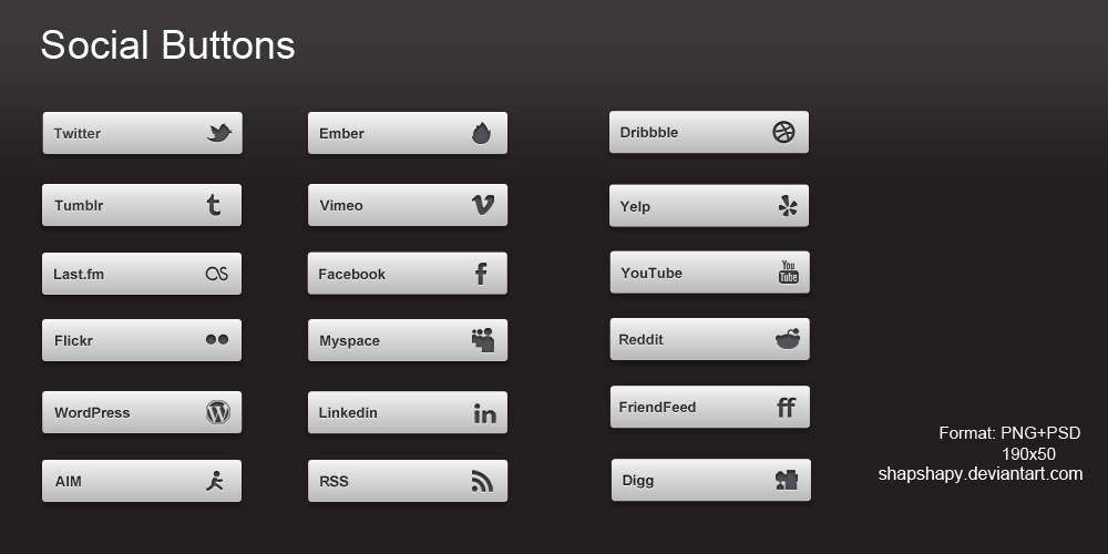 Social buttons by shapshapy