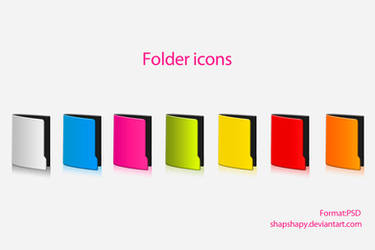 Folder icons by shapshapy