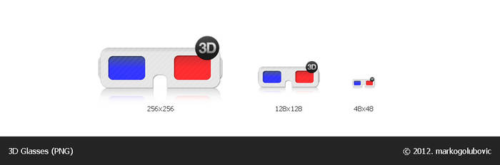 3D Glasses icon (PNG) by markogolubovic