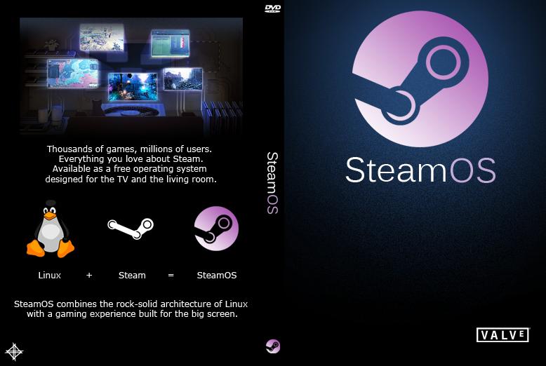 Valve Steam Os SteamOS DvD Cover by N...