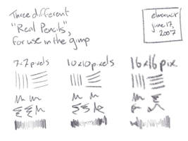Real Pencil Brushes for GIMP