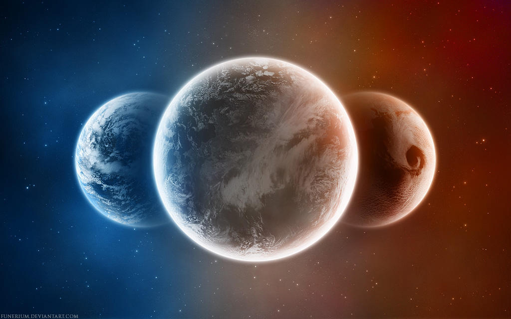 three planets lining up
