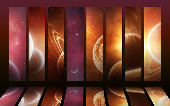 Cosmos collection II - Orange