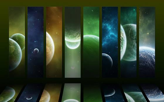 Cosmos collection III - Green