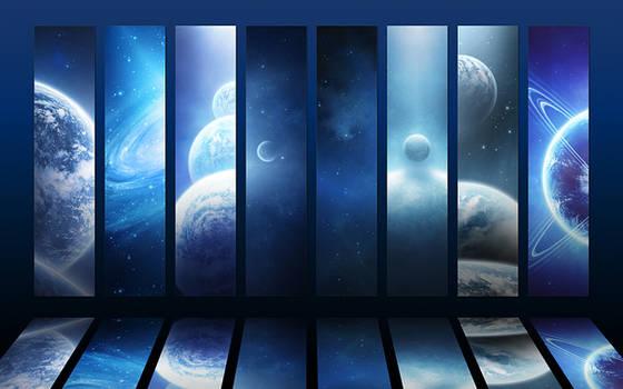 Cosmos collection V - Blue