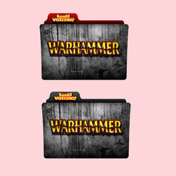 Warhammer Games Workshop Red / Black Folder Icon