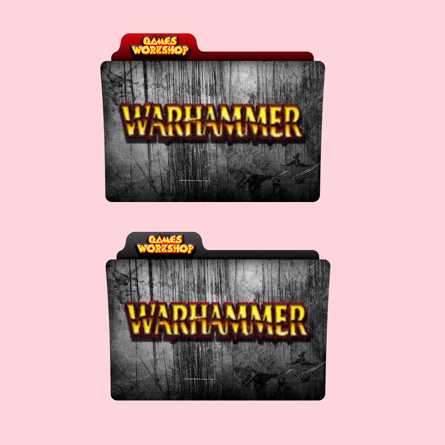 Warhammer Games Workshop Red / Black Folder Icon by alacazain