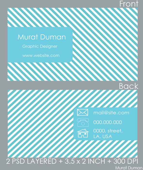 Free Fresh Blue Business Card by DumanMurat