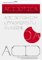 Acidotica True Type Font WIP by acidDOTdica