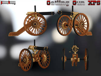 Gatling Gun XPS by panzerheavy