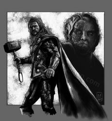 Thor vs Malekith by Kmadden2004
