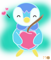 Piplup - Cherry Love by MagnificentCookie