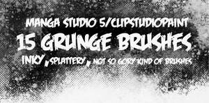 Manga Studio 5 Grunge Brushes