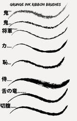 Manga Studio 5 Grunge Ink Ribbon Brushes by N3KRoM3KHANIKaL