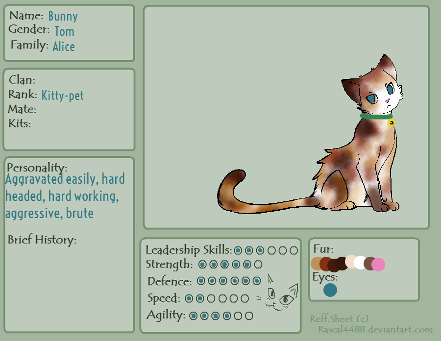 Warrior Cats Breed-able! (Open) by JCGGRainbowSapling on