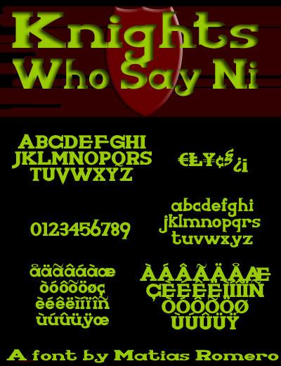 Knights Who Say Ni by matiasromero